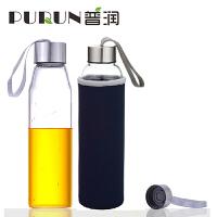 普�� 550ML耐�岵A�水瓶��意��d玻璃杯子�V泉水瓶���w茶杯PRB15�{色
