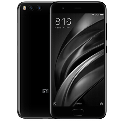 """小米6 全网通 6GB+64GB 亮黑色 移动联通电信4G手机 双卡双待骁龙835,6GB大内存,5.15""""四曲面机身!"""