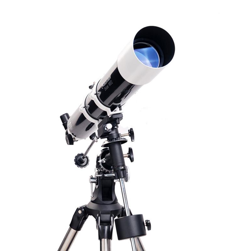 升级版星特朗DELUXE 80EQ 80/900入门折射式天文望远镜 不锈钢脚架摄影稳定镜 套餐十 充氮气,免保养,入门天文镜,易入手