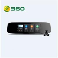 360行车记录仪智能后视镜导航云镜 S650 前后双录高清夜视倒车影像 语音操控导航测速 带后置摄像头套装