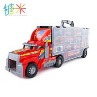 儿童玩具车工程消防挖土机勾机套装男孩子合金小汽车货柜车模型