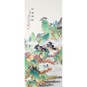 C296黄山寿《山水人物》(北京文物公司旧藏)