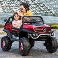 奔驰儿童电动车四轮遥控汽车小孩宝宝可坐大人超大越野双座玩具车