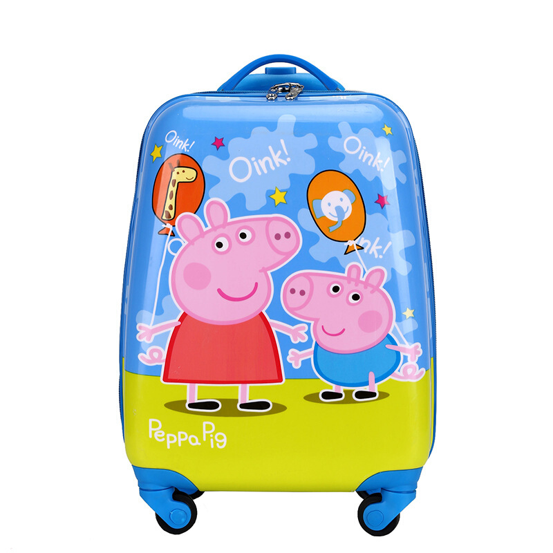 儿童拉杆箱16寸宝宝行李箱男女18寸万向轮旅行箱20寸旅行箱包 气球小猪佩奇+乔治 18寸