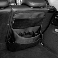 汽车座椅背收纳袋皮革加厚置物袋车载后备箱挂袋储物箱网兜通用款