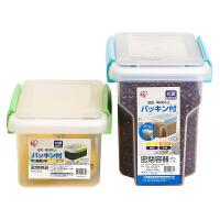 日本爱丽思IRIS 冰箱内密封食品保鲜盒冷藏收纳盒子长方形水果盒