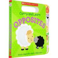 【英文原版】 Carry and Learn Opposites 儿童认知启蒙纸板触摸书