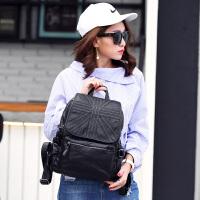 玛罗士 包包新款2017欧美风羊皮女包时尚轻盈大容量双肩包百搭学生书包背包旅行包