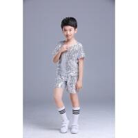 六一新款儿童爵士舞演出服女童啦啦操服装男女亮片现代舞服装