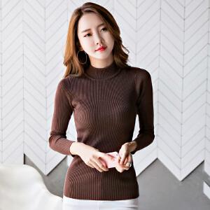 修身韩版毛衣冬季修身时尚韩版半高领毛衣
