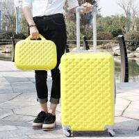 拉杆箱万向轮旅行箱包子母箱密码20 24 28寸韩版行李箱男女 柠檬黄 20寸(箱套+贴纸)