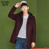 森马棉衣男冬季新款男士韩版潮流两件套外套中长款棉袄