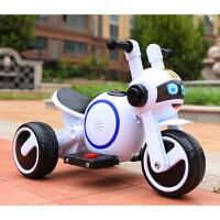 儿童电动摩托车三轮车三轮童车轻便手推车宝宝小孩充电玩具车可坐