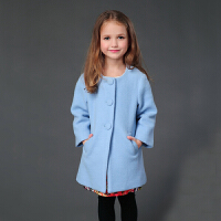 女童毛呢外套2018秋冬装新款中大儿童呢子大衣宝宝长袖外套母女装