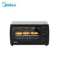美的(Midea)PT1011 家用多功能迷你小烤箱 10升家用容量 双层烤位
