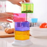 可旋转式调味盒 立式调料盒有盖厨房用品 创意四层调味瓶调料罐子