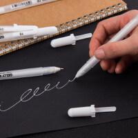 日本樱花手绘白笔高光笔波晒笔绘画笔白色油漆笔记号笔细高光白笔