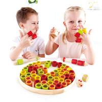 【特惠】Hape快乐套指环4岁以上早教益智玩具亲子互动游戏儿童宝宝竹制玩具 E5557