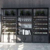 铁艺酒架置物架落地红酒架摆件葡萄酒杯架展示架子工业风酒柜酒架