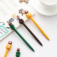 卡通蘑菇中性笔 少女可爱卡水笔签字笔韩国创意文具小学生奖品