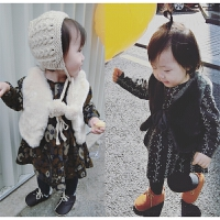 允儿妈童装 17冬季新款女宝宝女童仿兔毛婴幼儿童皮草毛双面马甲