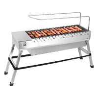 自动翻转户外烧烤炉烧烤架家用充电宝供电动旋转木炭烧烤工具