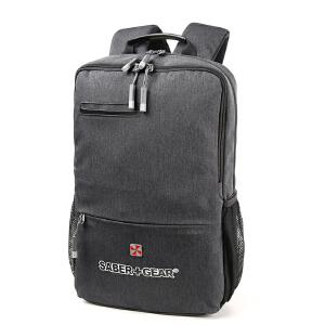 瑞士军刀男士休闲双肩电脑包商务时尚电脑包背包灰色SG9831