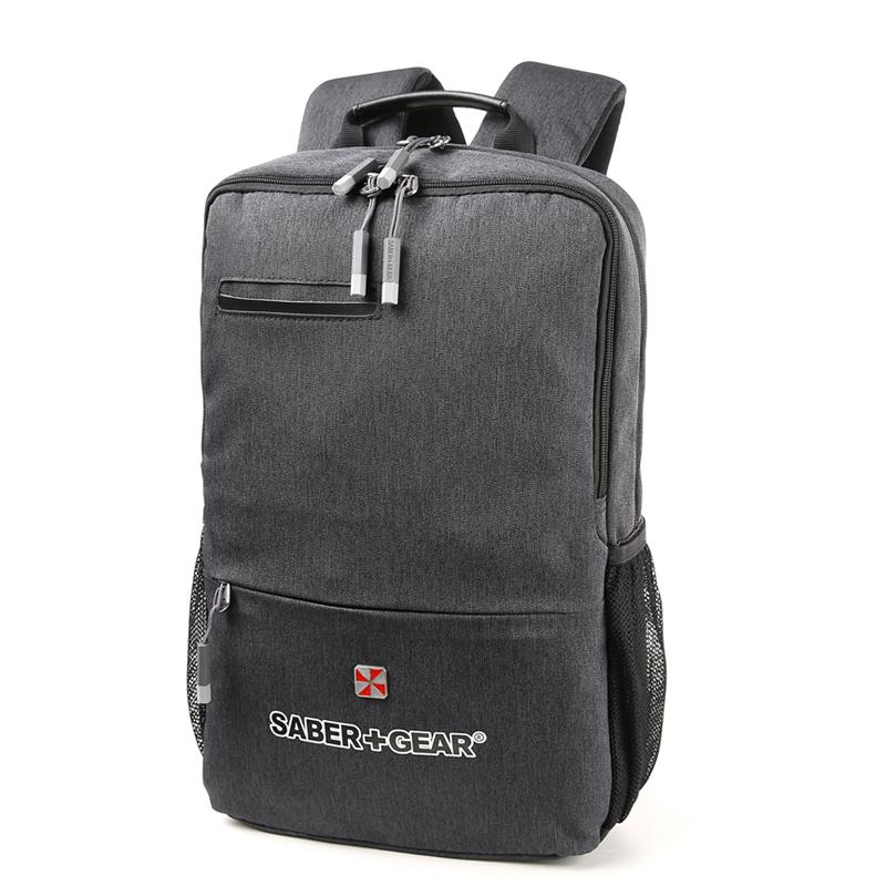 瑞士军刀男士休闲双肩电脑包书包商务时尚电脑包背包灰色SG9831礼品卡支付