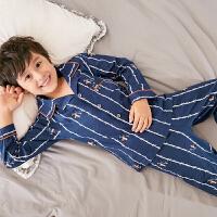 儿童睡衣男童春秋季纯棉长袖秋款男孩子中大童秋天卡通全棉家居服