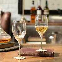 奇居良品 摆件斯隆珐琅彩水晶玻璃红酒杯2件套装礼盒