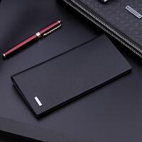 钱包男长款韩版青年钱夹个性男士手包超薄款男款创意学生潮皮夹子SN6668