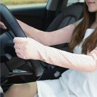 女士驾驶蕾丝开车防晒手套 新款簿防紫外线UV防滑防晒护臂袖套长款