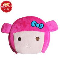 春笑 情侣款豆豆女孩 USB暖手鼠标垫/USB鼠标垫/USB电热鼠标垫(粉色