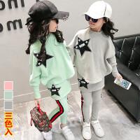 *女童运动套装儿童小孩衣服女宝宝女孩春装2018新款韩童装
