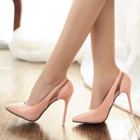 彼艾2016春季新款女鞋鞋子女鞋高跟鞋漆皮尖头高跟单鞋细跟女浅口单鞋