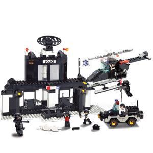 【当当自营】小鲁班防暴特警系列儿童益智拼装积木玩具 特警训练所M38-B1500