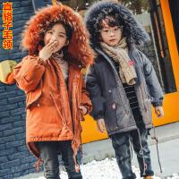 **儿童装韩版中长款棉衣外套男童女童保暖棉袄潮2018冬装新款