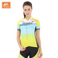 夏季自行车骑行服短袖上衣 女款山地车骑行服短上装