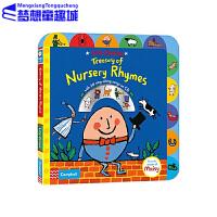 英文原版绘本0 3岁 Treasury of Nursery Rhymes 欧美儿歌歌谣 附CD 吴敏兰书单 第6本