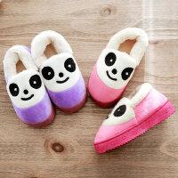 儿童居家棉拖鞋男童女童软底防滑保暖棉鞋宝宝小孩包跟室内拖鞋