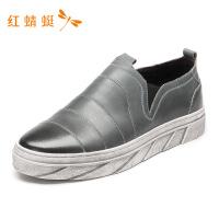 红蜻蜓男鞋春秋新款单鞋潮流时尚一脚蹬舒适百搭运动休闲鞋