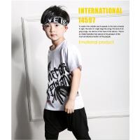六一儿童街舞配饰发带韩版嘻哈字母头带潮女童跑步运动头带发箍潮