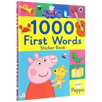 Peppa Pig 1000 First Words Sticker Book 英文原版绘本 粉红佩佩猪小妹 小猪佩奇