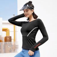 专业健身上衣女修身紧身显瘦透气速干跑步长袖运动T恤瑜伽服