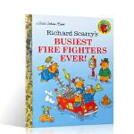 顺丰发货 英文原版绘本 Richard Scarry's Busiest Firefighters Ever! 斯凯瑞