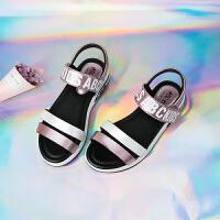 夏季单鞋中童平跟凉鞋公主皮鞋休闲潮