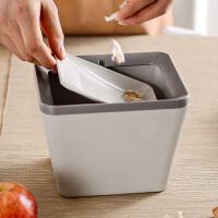 奇居良品 厨房客厅卧室收纳桶 埃米桌面迷你垃圾桶