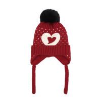 户外运动儿童套头针织帽毛线帽子韩版男女童大毛球球帽宝宝保暖护耳帽