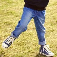 【3件3折到手价:110】小猪班纳童装男童牛仔裤春装潮款儿童修身长裤复古裤子时尚百搭