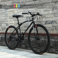变速死飞自行车男女学生单车双碟刹公路车实心胎充气赛车新品
